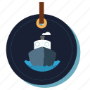 boat, ocean, sea, ship, trasportation, travelling icon