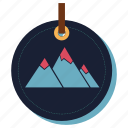hill, mountain, rock, snow, top, traveling icon
