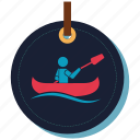 boat, ship, swimmer, swimming, travel, travelling icon