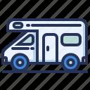 camper, trailer, travel, van