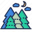 camping, forest, trees, wood icon