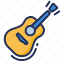 acoustic, guitar, music, play icon