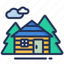 cottage, forest, house, wood