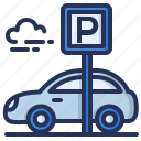 parking, car, lot, vehicle