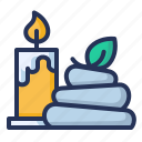 candle, service, spa, stones icon