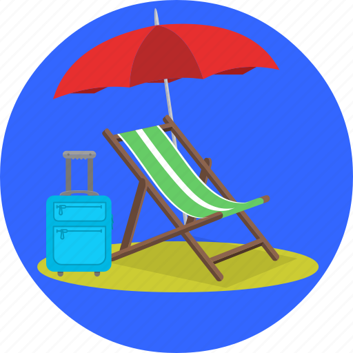 beach, holiday, holidays, retirement, summer, trip, vacation icon