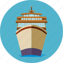 cargo, cruise, ship, shipping, transportation, travel icon