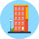 apartment, architecture, building, estate, hotel, house icon
