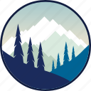 adventure, hiking, mountain, mountains, outdoor, outdoors, tourism icon