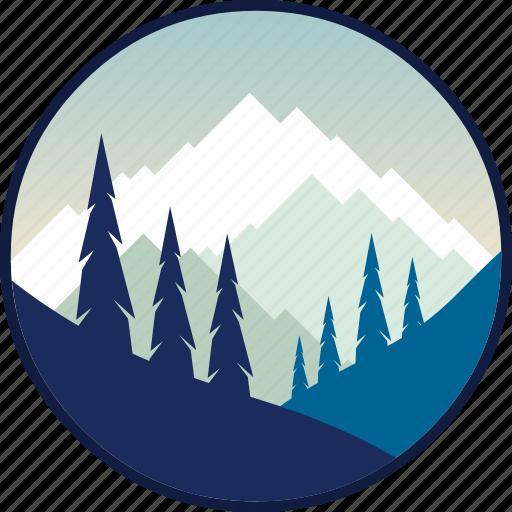 adventure, hiking, mountain, mountains, outdoor, outdoors, tourism icon