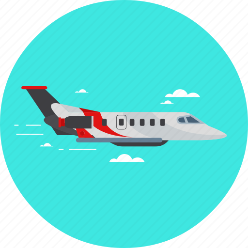 airplane, flight, plane, private, transport, travel, vacation icon