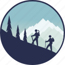 adventure, camping, mountain, outdoor, tourism, trekking, vacation icon