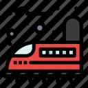 railroad, railway, train, transport