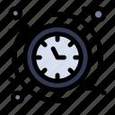 around, clock, hours, the icon