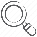 exploring, laboratory tool, magnifier, magnifying glass, research equipment icon
