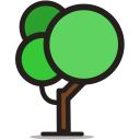 ecology, garden, nature, round tree, tree icon