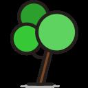 round tree, rounded, tree icon