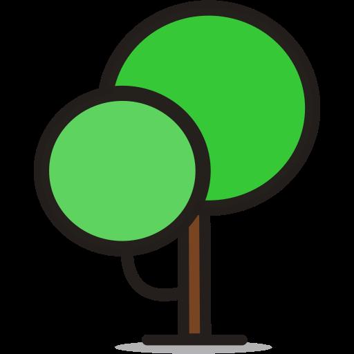forest, round tree, tree icon