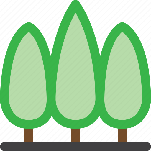 environment, forest, group, grow, nature, tree, trees icon