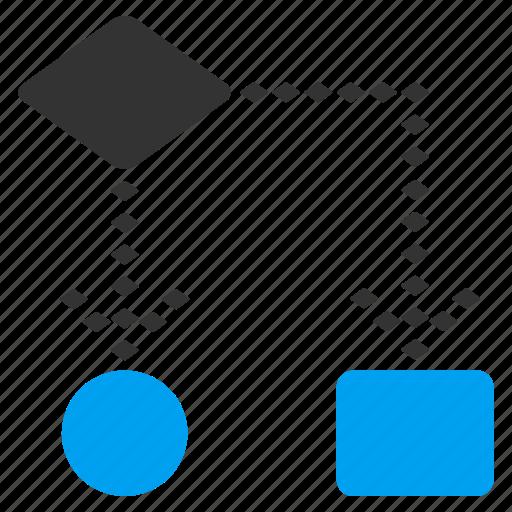 algorithm, diagram, flowchart, interface, process, program optimization, programming icon