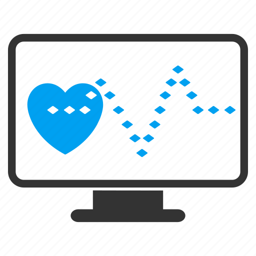 cardio monitoring, cardiogram, cardiology, ecg, heart pulse, heartbeat, medical graph icon