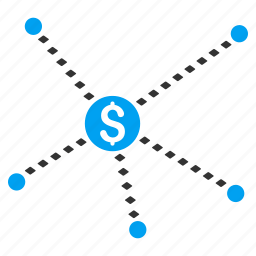 business, chart, connection, dotted, finance, financial, links icon