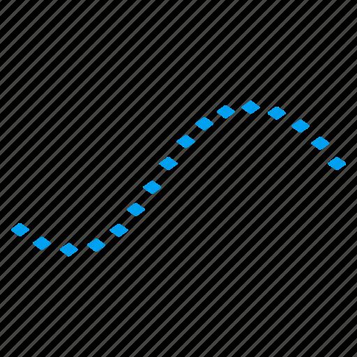 curve, diagram, dots, dotted plot, function, graph, line icon