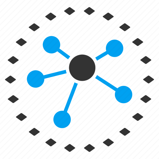 chart, diagram, dotted, graph, infographic, links, network icon