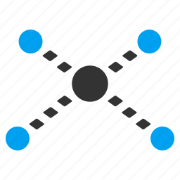 connect, connection, dotted line, joined, links, network, web icon