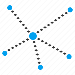 communication, connect, connection, dotted line, joined, links, relations icon
