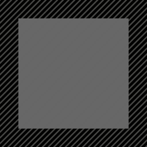 solid, square icon