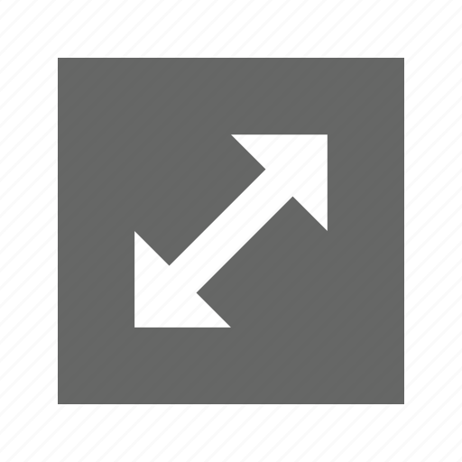 arrow, corners, solid, square icon