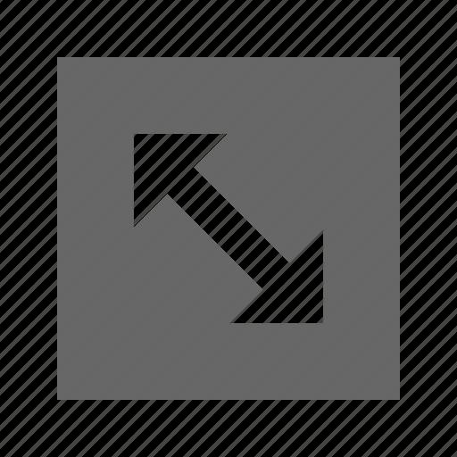 arrow, corners, solid, square icon