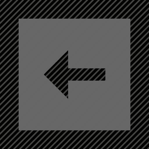 arrow, left, solid, square icon