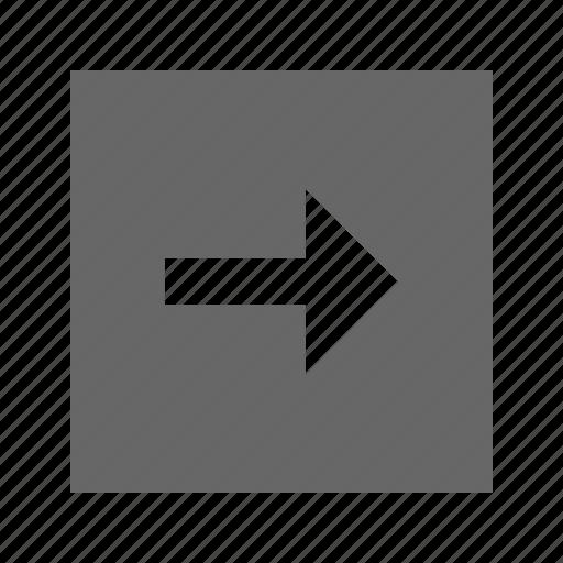 arrow, right, solid, square icon