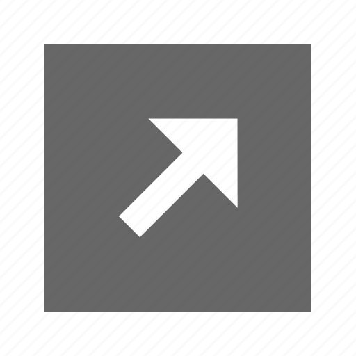 arrow, right, solid, square, top icon