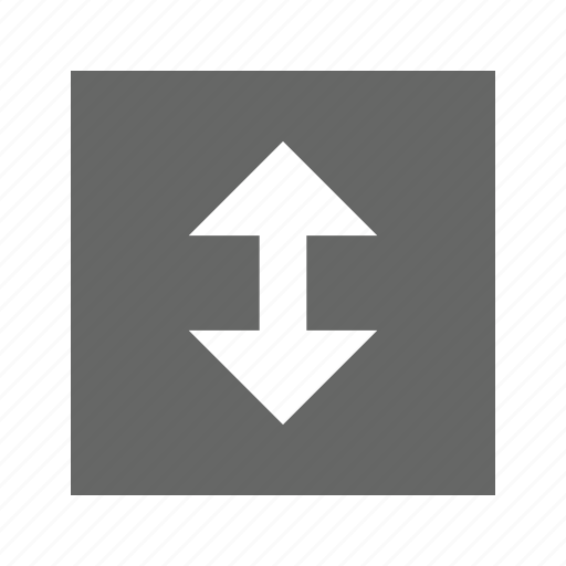 arrow, down, solid, square, up icon