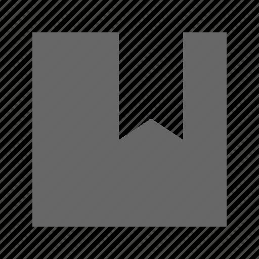 bookmark, solid, square icon