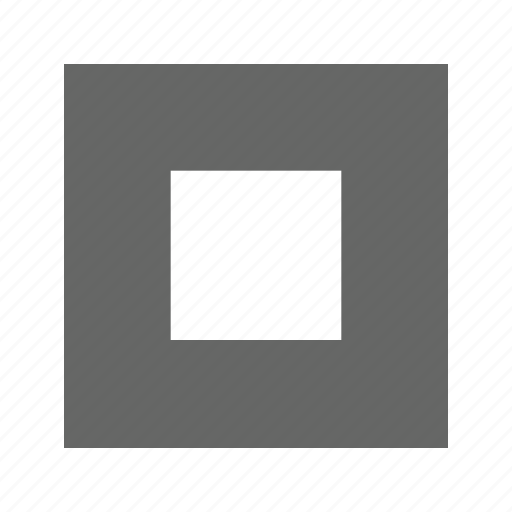center, large, solid, square icon