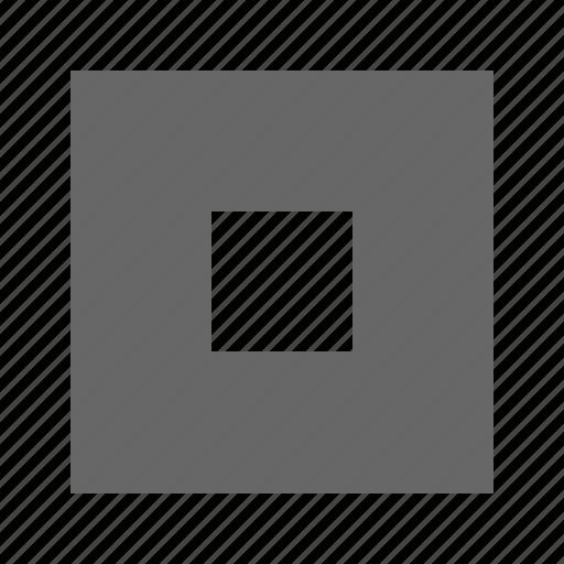 center, small, solid, square icon