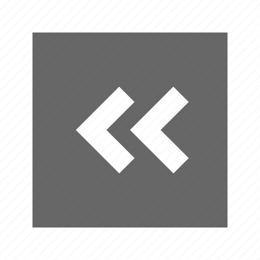 chevron, left, solid, square icon