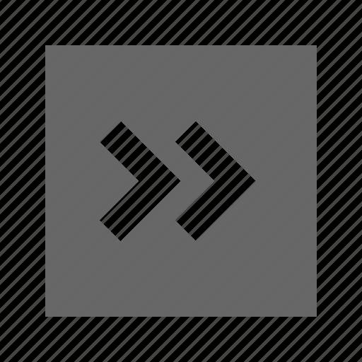 chevron, right, solid, square icon