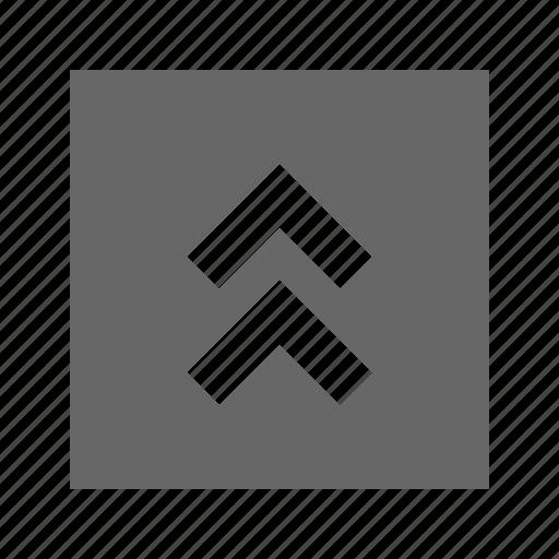 chevron, solid, square, up icon