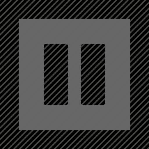 columns, solid, square icon