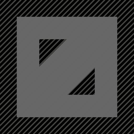 corners, solid, square icon