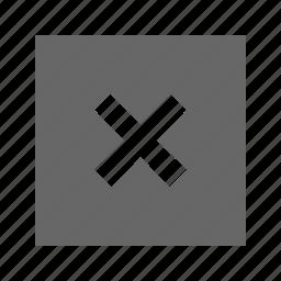 cross, solid, square icon