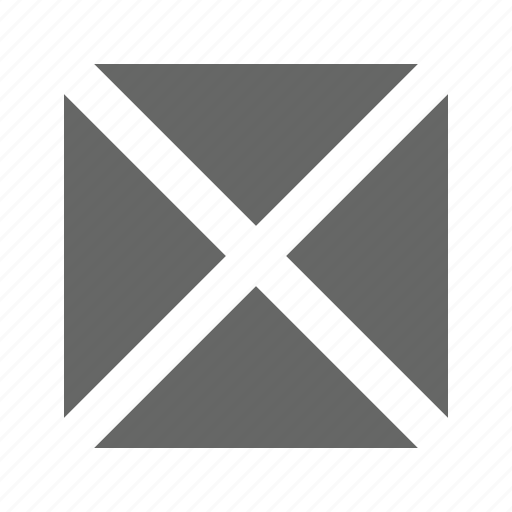 cross, full, solid, square icon