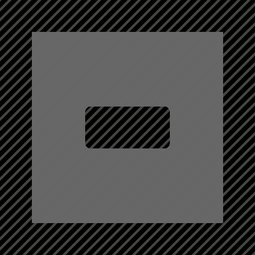 dash, solid, square icon