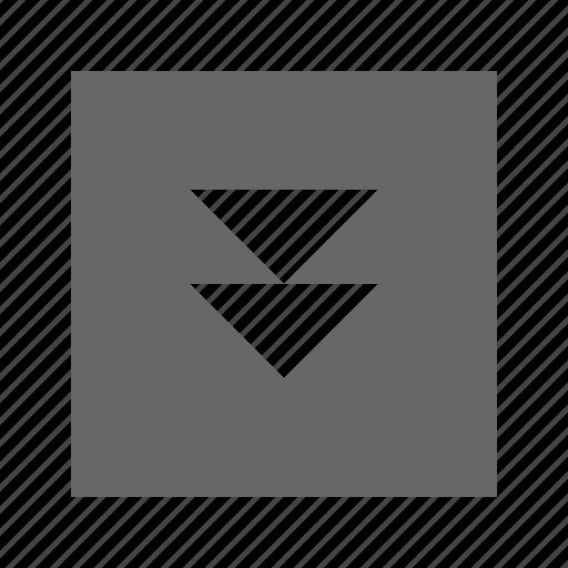 double, down, solid, square, triangle icon