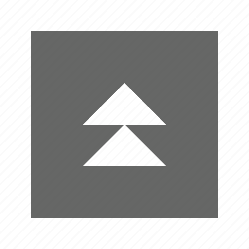 double, solid, square, triangle, up icon